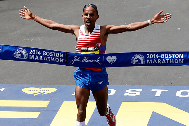 Meb Keflezighi wins Boston Marathon