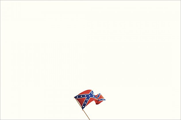 Confederate flag on blank canvas