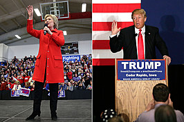 Hillary Clinton and Donald Trump win Iowa caucuses