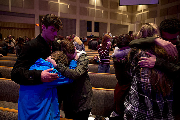 Prayer at Center Point Church