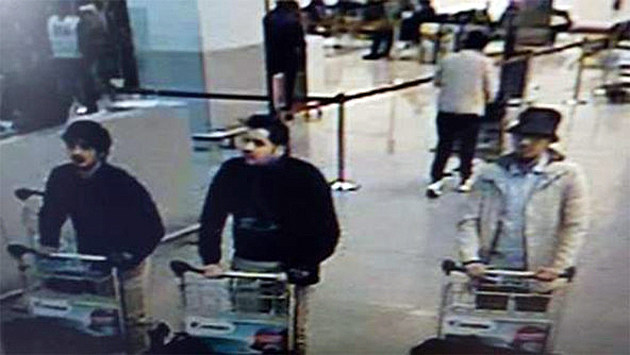 Brussels bombers at airport