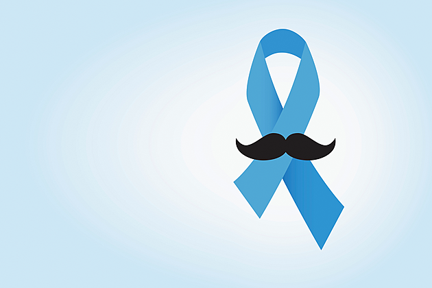 prostate cancer ribbon and mustache