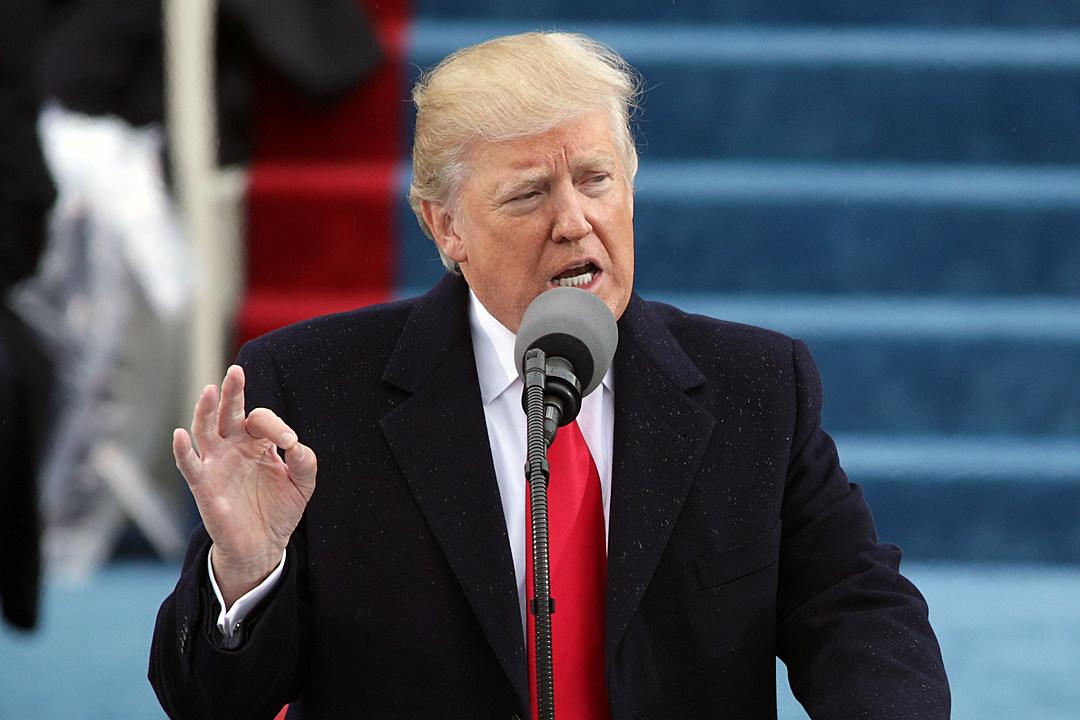 Donald Trump gives speech